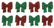 Christmas Bows Red Green Novelty Buttons Jesse James Theme Pack