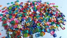 100 x Craft Sequins - Metallic - Square - 4.5mm - Mixed Colour