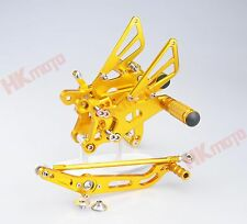 Gold CNC Rearset Foot pegs Rear set For Yamaha YZF R6 2006-2014