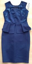 Bnwt��Lipsy��Size 10 Navy Sweetheart Peplum Sequinned Details Dress Party New