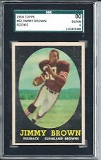 1958 Topps Football #62 Jim Brown Rookie Card SGC 80