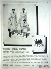 1936 'JAEGER' Camel Overcoats Advert - Art Deco Fashion Print Ad