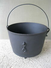 Antique Kettle #8 3-Leg Cast Iron Primitive Bail Handle, Cauldron, Pot, Gatemark