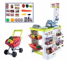 My First Supermarket Set With Electrical Scanner Light, Sound & Trolly 24 PIECES