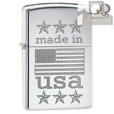 Zippo 29430 Made in USA Flag Lighter with PIPE INSERT PL