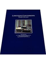 1988 Lincoln Town Car Factory Limousine Original Car Sales Brochure Catalog