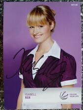 """Isabell Ege - Sat. 1 Autogrammkarte """"Eine wie keine"""""""