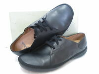 NEW CLARKS ROCCO BLACK LEATHER CASUAL SHOES VARIOUS SIZES