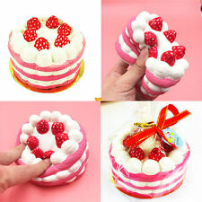 Cute 10CM Jumbo Squishy Strawberry Cake Scented Super Slow Rising Fun Kids Toy T