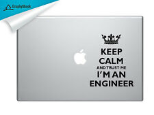 Keep Calm Engineer Mac Decal Laptop Sticker Mac Stickers Decals 13 15 inch Mac