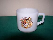 "Vintage Fire King Esso EXXON Tony The ""Tiger in Your Tank"" Milk Glass Coffee Mug"