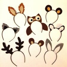 8 Woodland wild animals nature theme forest creature ears headband birthday part