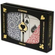 Copag Poker Size Jumbo Index 1546 Playing Cards (Blue Red Setup) New
