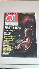 SINCLAIR QL WORLD MAGAZINE ~ Feb 1987 ~ computer articoli ~ buone condizioni