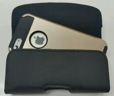 FOR iPHONE 4/4S BELT CLIP LEATHER HOLSTER  FIT A SUPCASE HYBRID CASE ON PHONE