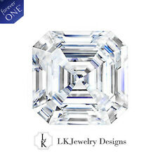 1.30 CT MOISSANITE FOREVER ONE ASSCHER LOOSE STONE - 6.5 mm