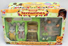 Sylvanian Families Bunny Rabbits Ternurines Garden Set Rare Mexican Packaging