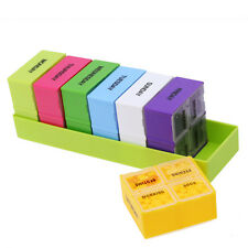 7 Day Medicine Storage Organizer Container Case 28 Compartment Tablet Pill Box #