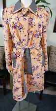 Z SPOKE ZAC POSEN Floral & Gingham Watercolor Coat Sz 14  $695