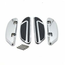 Chrome Airflow Passenger Footboard Kit For Harley 00-17 Softail/86-17 Touring