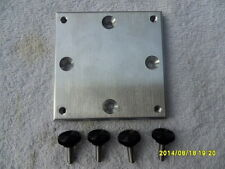 4 X 4 MOUNTING PLATE BIG JON STYLE ROD HOLDER WITH SS THUMB SCREWS NEW