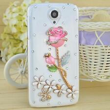 Bling Clear Crystal Diamonds Soft TPU back Ultra-thin Phone Case Cover Skin B-23