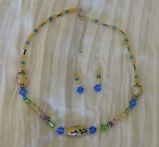 SWAROVSKI CRYSTAL NECKLACE & MATCHING EARRINGS