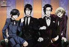 Poster A3 Kuroshitsuji Black Butler Sebastian Ciel  Alois Claude 07