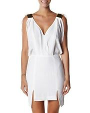 $130 NWT Finders Keepers Sexy White Ivory Walk Away Mini Open Back Dress Small