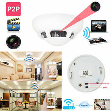 WiFi HD 1080p Spy IP Camera DVR Nanny Cam Smoke Detector Hidden Motion Detection