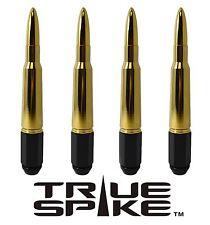 16 VMS RACING 7 INCH 12X1.5 STEEL LUG NUTS W/ 24K GOLD 50 CAL BULLET SPIKES