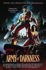 "ARMY OF DARKNESS Silk Fabric Poster 11""x17"" EVIL DEAD II Ash Necronomicon Horror"