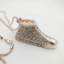 Fashion sports shoes sweater chain With Crystal Long Necklace CC52