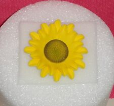Sun Flower,3in,Gum Paste,Floral Cake Decoration,Yellow,DecoPac, On Wire.