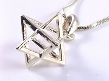 Merkaba Necklace Pendant 3d Star Of David Kabbalah Magen Gold Merkava Jewish