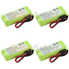 4x Home Phone Battery Pack 350mAh NiCd for Uniden BT-1008 BT1008 BT-1016 BT1016