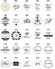 Wedding Invitation Envelope White Sticker Seals Monogram