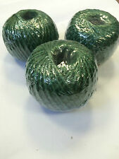3 Balls of Garden Green Jute String Twine Craft Gift Wrapping, Floristry,Tags