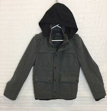 Guess Gray Wool Zip Front Jacket with Hood Sz S
