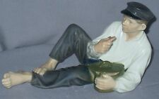 "VINTAGE ROYAL COPENHAGEN FIGURINE 'BOY at LUNCH' C.THOMSEN 4 1/4""H CA 1969-74"