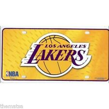 LOS ANGELES LAKERS TEAM LOGO NBA BASKETBALL LICENSE PLATE MADE IN USA