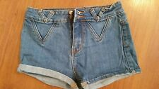 P.S. Pacific Sunwear Erin Wasson Jean Shorts size 25 Cuffed Stretch