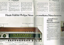PUBLICITE  1973   PHILIPS    ampl- tuner RH 720 ( 2 pages)