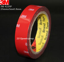 "3M Automotive Double Sided Acrylic Foam Adhesive Tape 25mm(1"")x3meter x0.8mm"