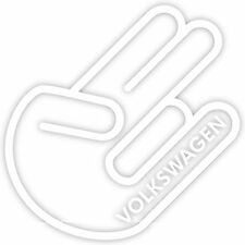 "Shocker Volkswagen VW 4"" Vinyl Decal Sticker Euro Dub Golf Jetta Beetle Hand"
