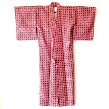 Vintage Traditional Japanese Red Kimono H183