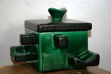 pot à tabac porte pipes boite céramique émaillé vallauris ? design vintage 50