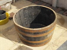 Half Solid oak wine Whisky barrel planters Garden Patio Lawn Tub Flower Pot Pond