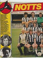 NOTTS COUNTY 1981-1982 RARE ORIG HAND SIGNED DOUBLE PAGE TEAM GROUP X 17 SIGS