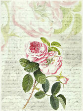 Ricepaper / Decoupage paper, Scrapbooking Sheets Rose, Paris and Letter